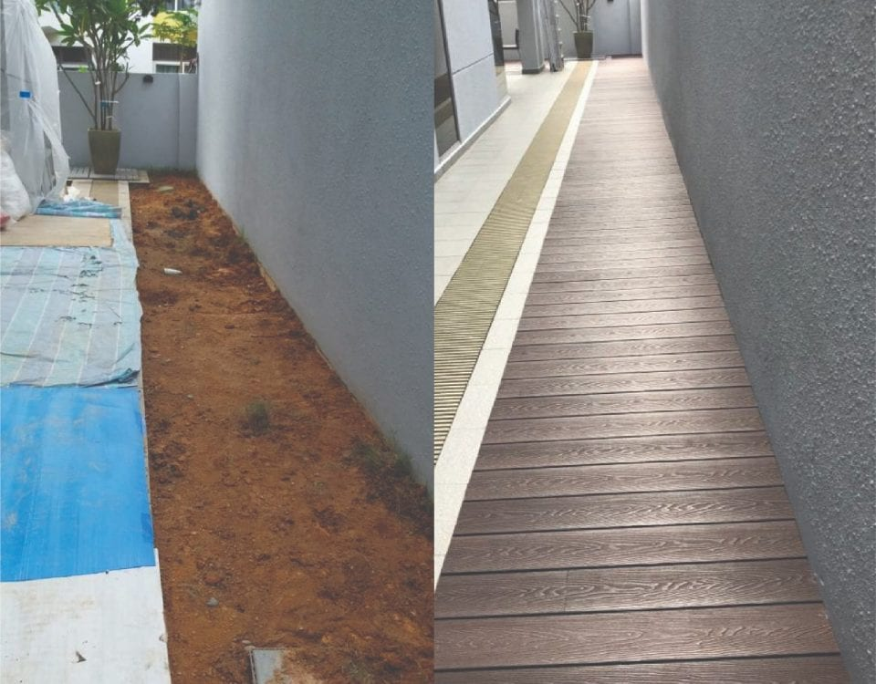 Muflooring - before and after wpc decking