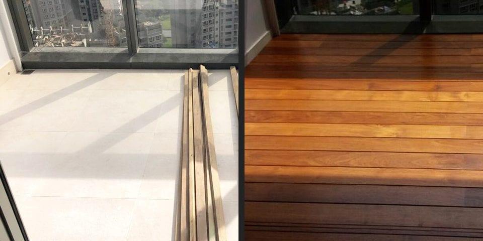 Outdoor Decking - Solid Burmese Teak 01 3