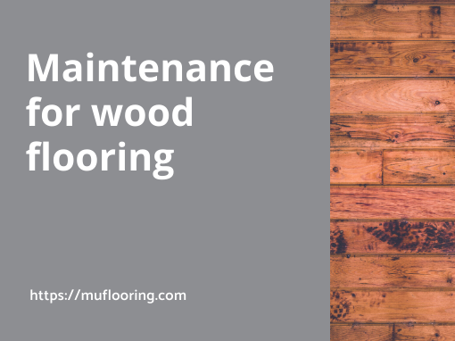 Muflooring maintenance