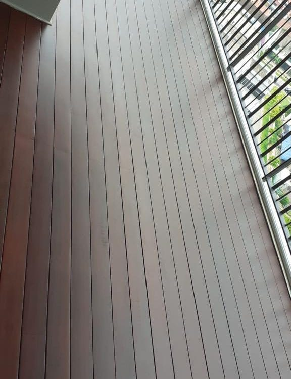 Muflooring - solid chengal decking for balcony
