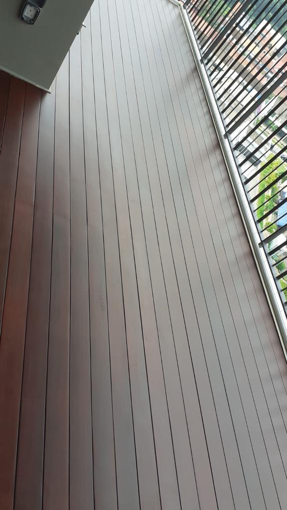 Muflooring - solid chengal decking for balcony