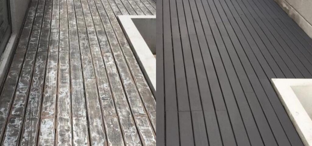 Outdoor Decking - Old Chengal Decking after sand and re-varnish 2